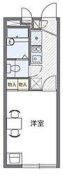 名鉄名古屋本線 東岡崎駅 バス14分 若宮町下車 徒歩3分の賃貸アパート 1階1Kの間取り