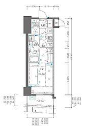 JR京浜東北・根岸線 関内駅 徒歩3分の賃貸マンション 10階1Kの間取り