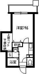 Cosumo Uearata 4階1Kの間取り