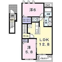 メゾン・ド・ブローテ 2階2LDKの間取り