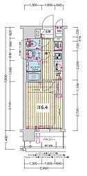 JR大阪環状線 森ノ宮駅 徒歩5分の賃貸マンション 4階1Kの間取り
