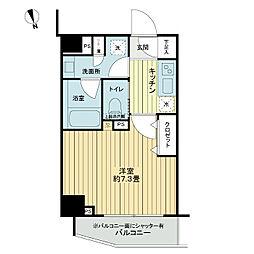 東急東横線 中目黒駅 徒歩7分の賃貸マンション 1階1Kの間取り