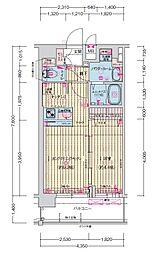JR大阪環状線 森ノ宮駅 徒歩5分の賃貸マンション 9階1LDKの間取り