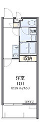 クレイノキャロット ハウス 3階1Kの間取り