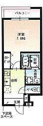 京阪本線 萱島駅 徒歩3分の賃貸アパート 2階1Kの間取り