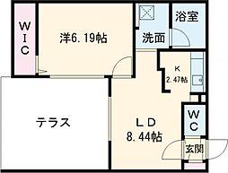 仮称)千歳清水町5丁目マンション 1階1LDKの間取り