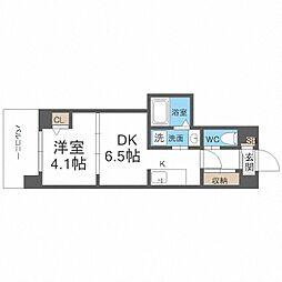 JR阪和線 我孫子町駅 徒歩6分の賃貸マンション 3階1DKの間取り