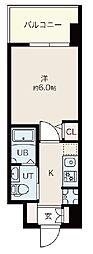 Osaka Metro御堂筋線 昭和町駅 徒歩12分の賃貸マンション 3階1Kの間取り