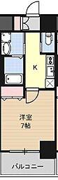 南海線 難波駅 徒歩9分の賃貸マンション 2階1Kの間取り