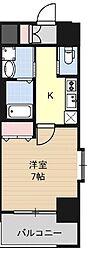 Huttenwerke Osaka Namba 10階1Kの間取り