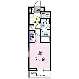 グローヴ テラス−2 3階1Kの間取り