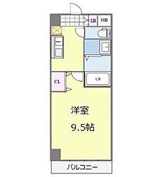 Osaka Metro御堂筋線 なんば駅 徒歩13分の賃貸マンション 8階1Kの間取り