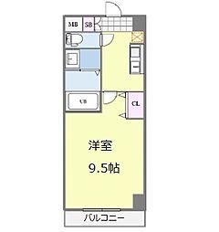 Osaka Metro御堂筋線 なんば駅 徒歩13分の賃貸マンション 10階1Kの間取り