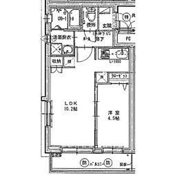 小田急小田原線 相武台前駅 徒歩5分の賃貸マンション 3階1LDKの間取り