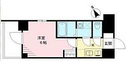 エスリード神戸ハーバークロス 5階1Kの間取り
