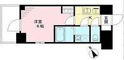 エスリード神戸ハーバークロス 9階1Kの間取り