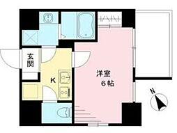 エスリード神戸ハーバークロス 7階1Kの間取り