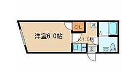 JR総武線 東中野駅 徒歩10分の賃貸マンション 1階1Kの間取り