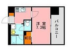 西鉄天神大牟田線 高宮駅 徒歩20分の賃貸マンション 9階1Kの間取り