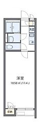 東武日光線 幸手駅 徒歩12分の賃貸アパート 1階1Kの間取り