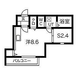 サリーレ 1階1SKの間取り