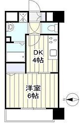 仙台市営南北線 長町南駅 徒歩8分の賃貸マンション 2階1DKの間取り