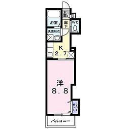 南海線 石津川駅 徒歩3分の賃貸アパート 1階1Kの間取り