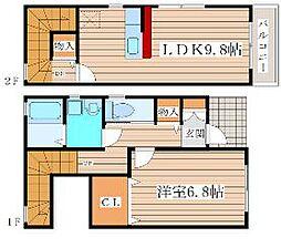仙台市営南北線 台原駅 徒歩18分の賃貸テラスハウス 1階1LDKの間取り