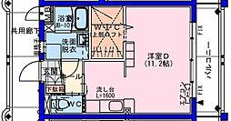 (仮称)瀬頭2丁目マンションII 1階ワンルームの間取り