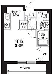HF仙台レジデンスEAST 12階2DKの間取り