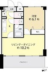 AZ本郷菊坂 5階1LDKの間取り