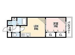 LUCRAS(ルクラス) 2階1LDKの間取り