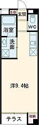 なごみマンション 1階ワンルームの間取り