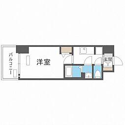 Osaka Metro中央線 九条駅 徒歩4分の賃貸マンション 15階1Kの間取り