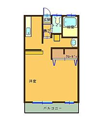 近鉄鈴鹿線 平田町駅 徒歩13分の賃貸アパート 2階1Kの間取り
