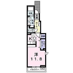 JR仙山線 陸前落合駅 徒歩7分の賃貸アパート 1階1Kの間取り