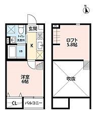 CHEERLIVE仙台宮町(チアリブセンダイミヤマチ) 2階1Kの間取り