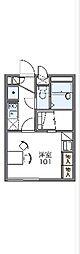 JR川越線 笠幡駅 徒歩3分の賃貸アパート 2階1Kの間取り