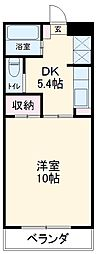 JR東海道本線 浜松駅 バス45分 湖東東下車 徒歩9分の賃貸アパート 3階1DKの間取り