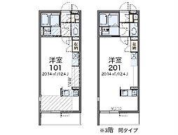 JR高崎線 吹上駅 徒歩14分の賃貸マンション 1階ワンルームの間取り