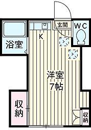 宮本コーポ 2階1Kの間取り