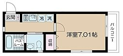 JR常磐線 亀有駅 徒歩13分の賃貸マンション 3階1Kの間取り