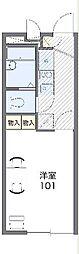 西武多摩川線 競艇場前駅 徒歩7分の賃貸アパート 2階1Kの間取り