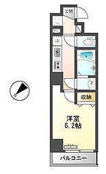 東京メトロ有楽町線 月島駅 徒歩2分の賃貸マンション 3階1Kの間取り