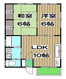 mity桂(ミティ桂) 2階2LDKの間取り