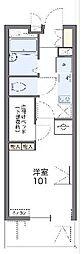 JR山陰本線 亀岡駅 徒歩5分の賃貸マンション 1階1Kの間取り