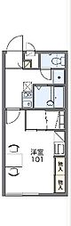 JR両毛線 桐生駅 徒歩29分の賃貸アパート 2階1Kの間取り