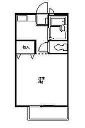 東武伊勢崎線 茂林寺前駅 徒歩4分の賃貸アパート 1階1Kの間取り
