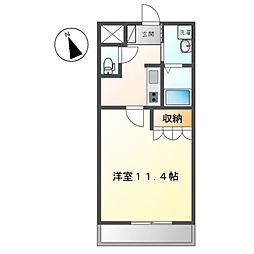 JR高崎線 本庄駅 徒歩34分の賃貸アパート 1階1Kの間取り