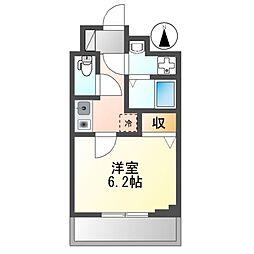 京急本線 雑色駅 徒歩10分の賃貸マンション 3階1Kの間取り